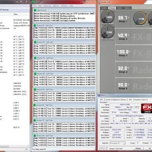 Corsair H80i Maximum speed 2FANs@4020MHz 1.356V