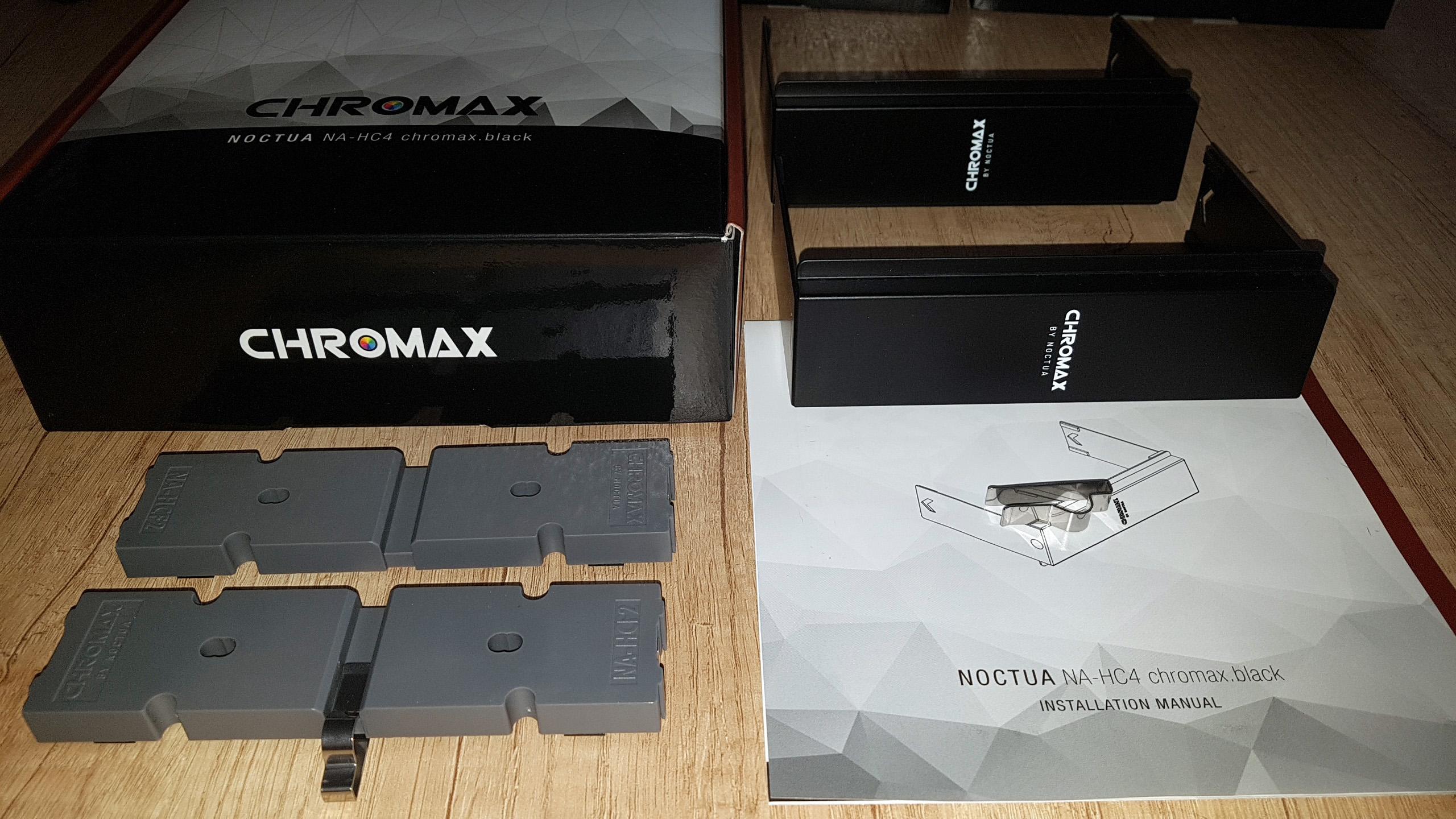 Noctua Chromax accessories - Review -